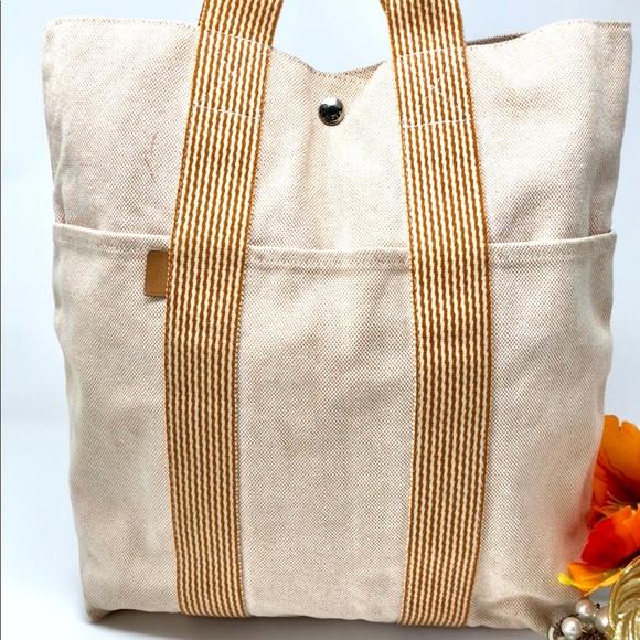525cd728d Hermes Handbags - Authentic HERMES Kabasu Tote Bag Cotton Canvas